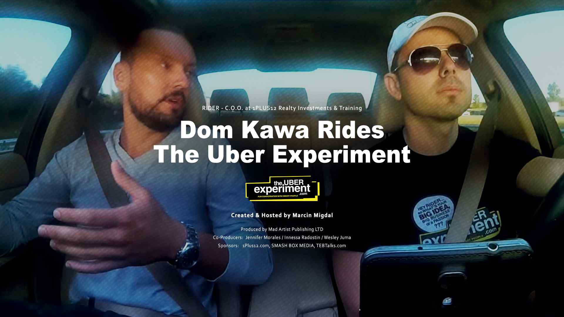 1plus12 COO & Entrepreneur Dom Kawa rides The UBER Experiment Reality Show