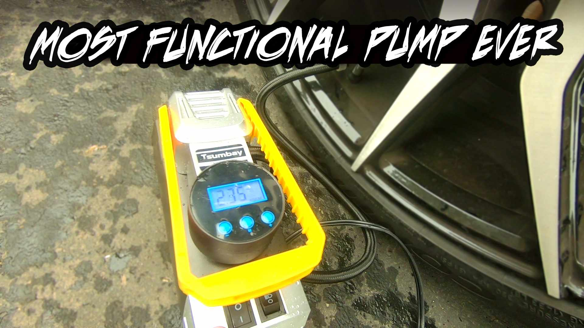 MY CAR's NEW BEST FRIEND... Auto-Inflating-Shut-Off TSUMBAY Car Pump