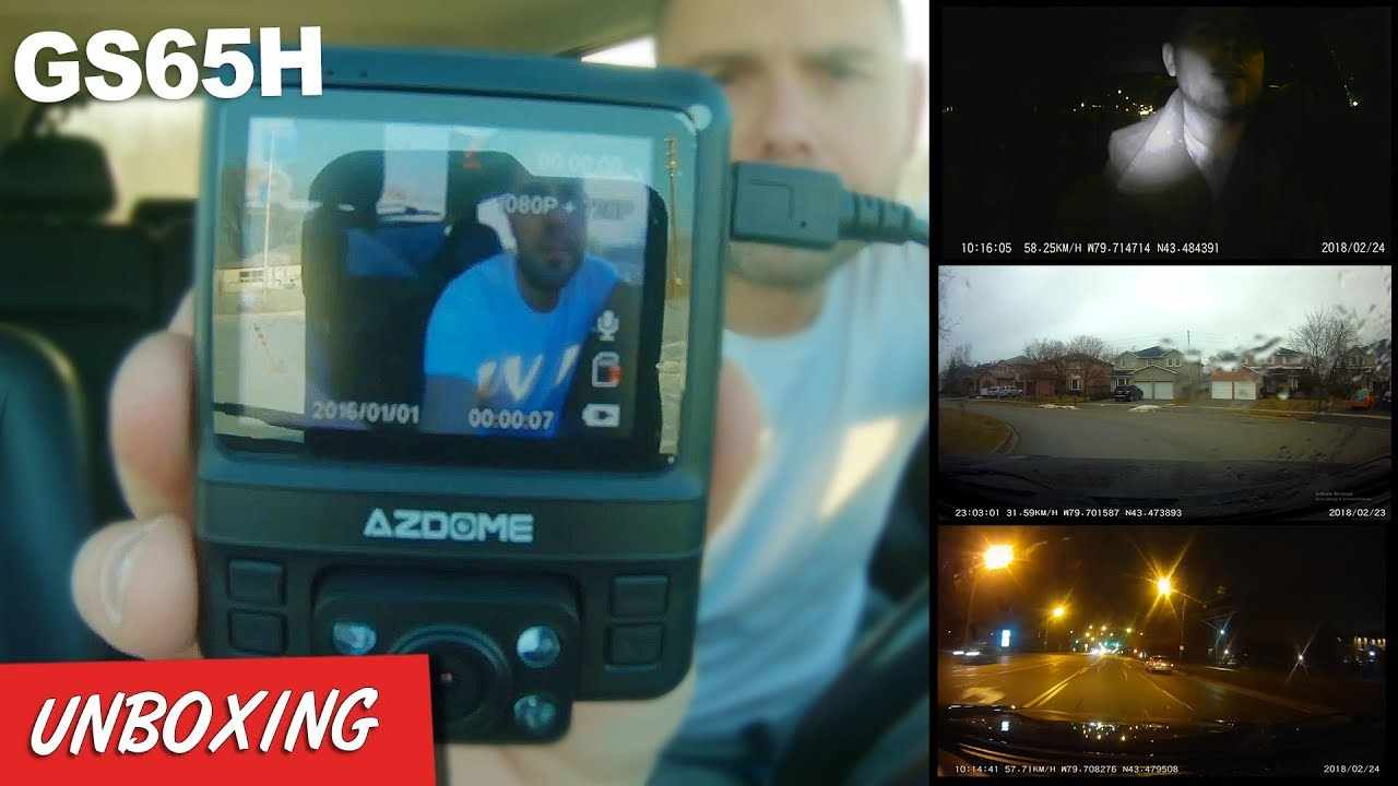 AZDOME DASH CAM GS65H Dual Lens 1080P/720P GPS Night Vision - FOOTAGE / UNBOXING REVIEW