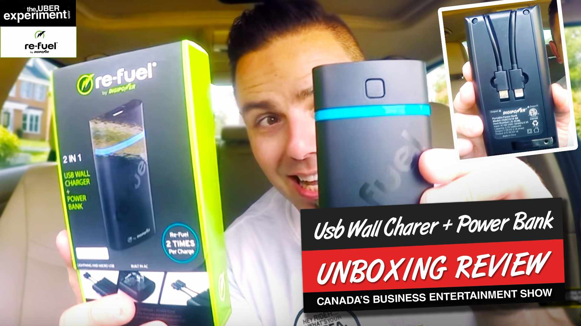 BEST Power Bank Charger Ever - ReFuel 2-in-1 Android & Iphone Wall Charger UNBOXING & Gadget Review