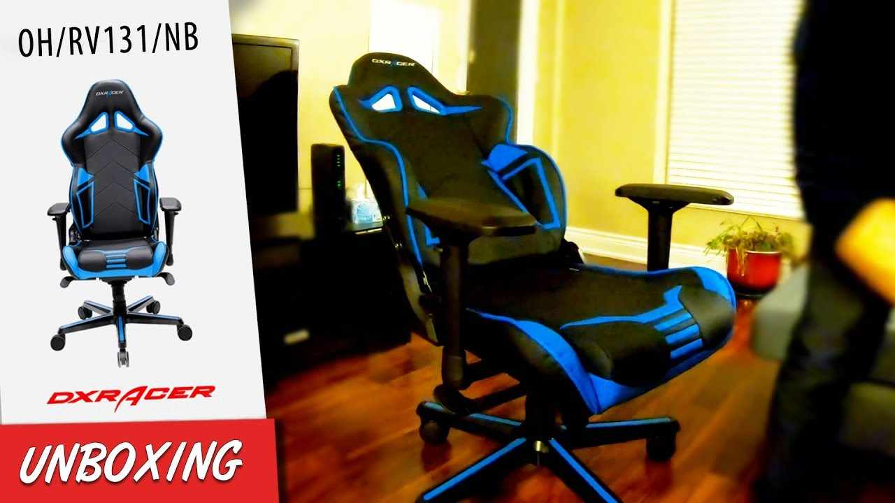 DXRacer Gaming Racing Chair Review - OH/RV131/NB UNBOXING & ASSEMBLY