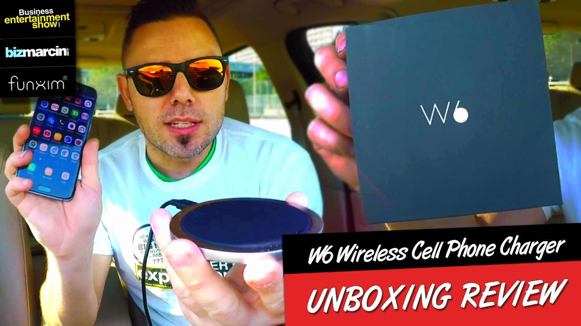 FUNXIM W6 Wireless Cell Phone Charger UNBOXING Review (Scott Barker EP Trailer)