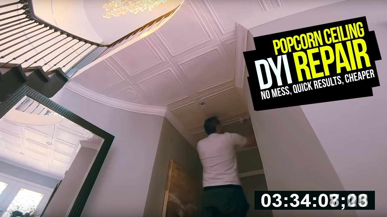 How To FIX / REPLACE POPCORN CEILINGS. No Mess, No Scraping, Fast Results DYI Popcorn  Repair