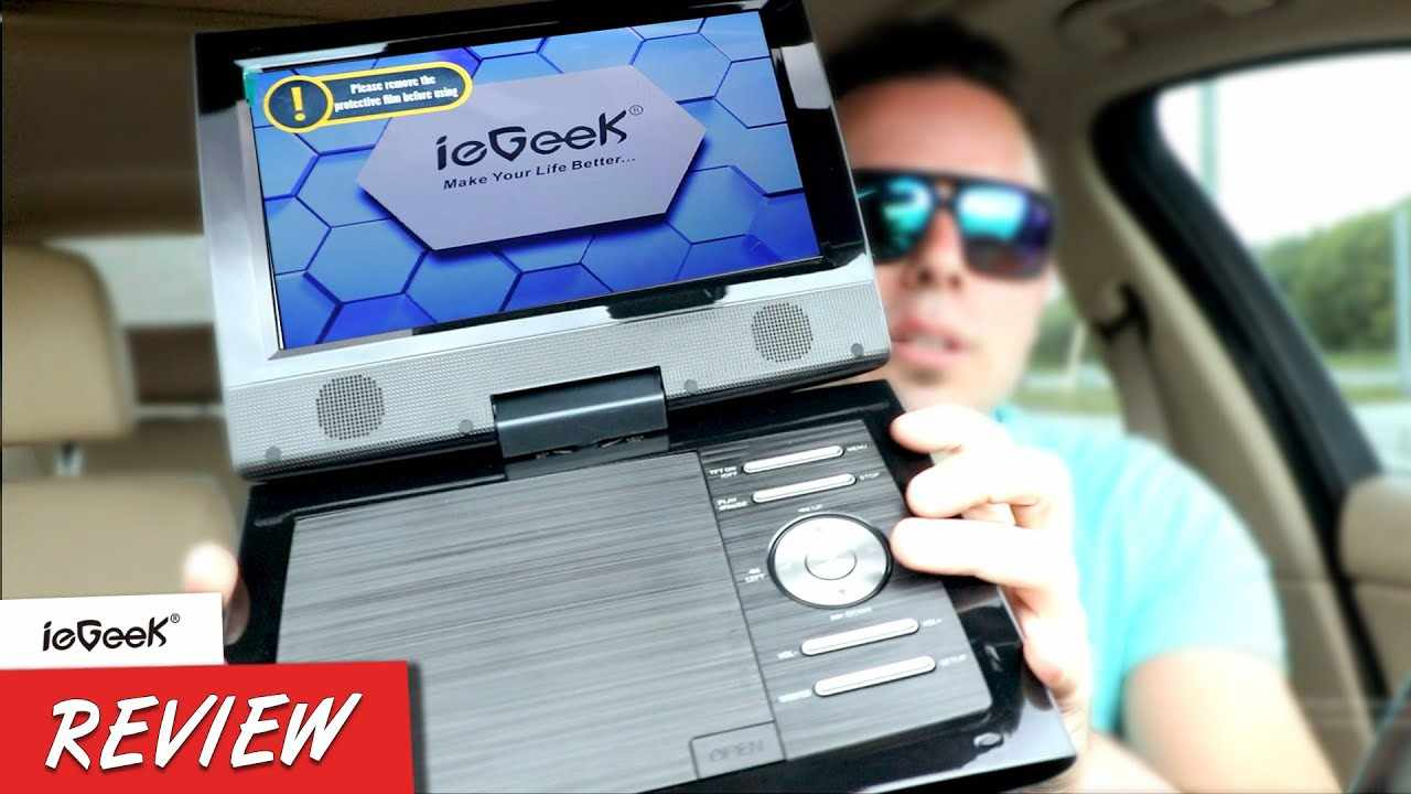KIDS SCREAMING IN A CAR? HERE'S YOUR FIX! ieGeek Portable Car Video Player