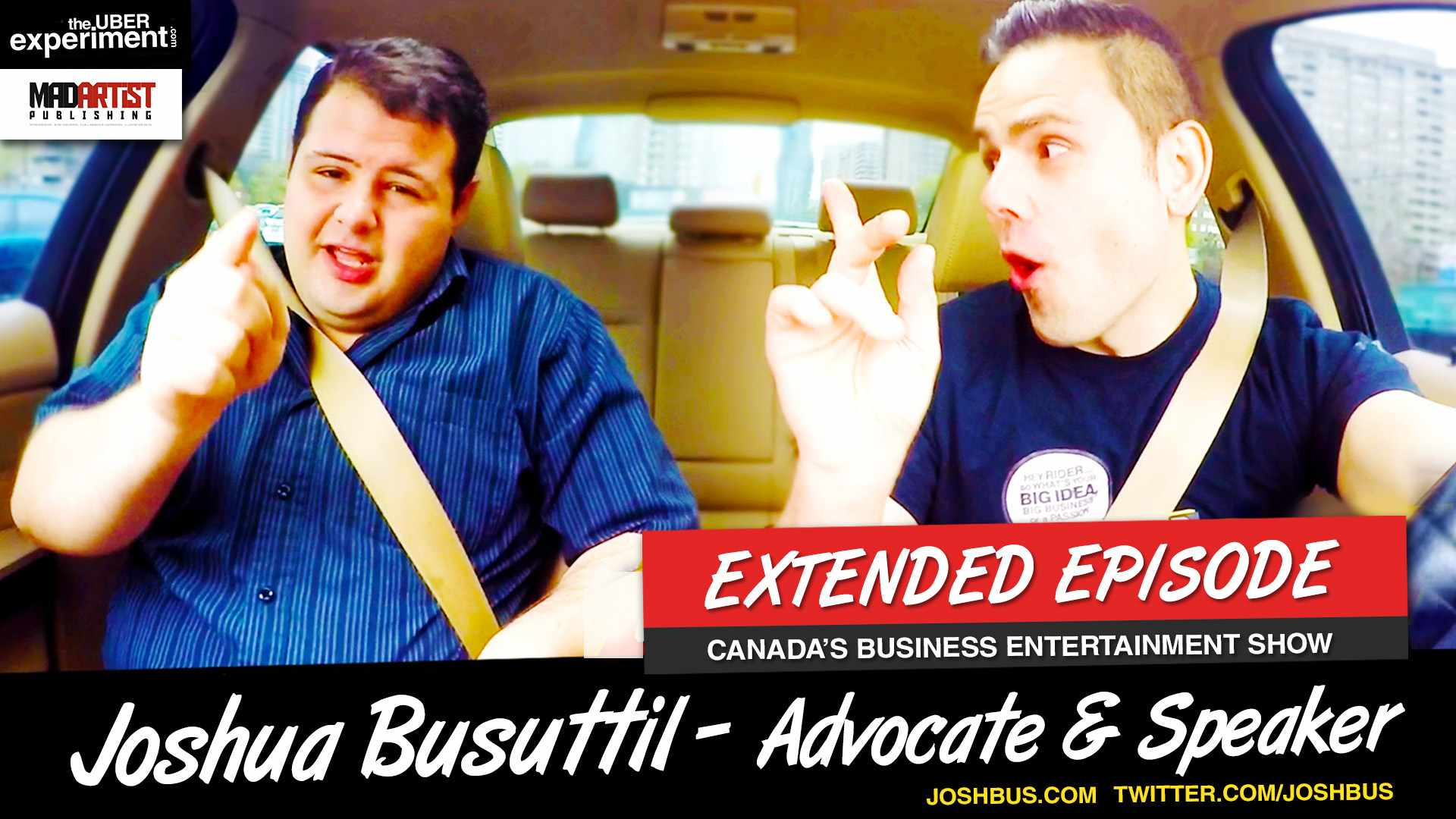DEPRESSION, BULLYING, SUICIDE - Advocate & Speaker Joshua Busuttil rides The Uber Experiment Show