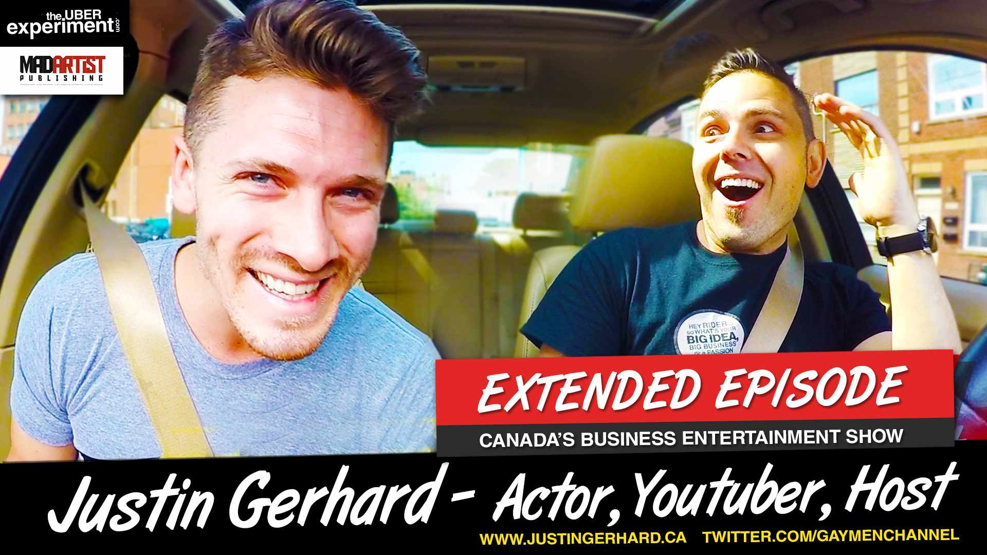 THE GAYEST UBER EVER -  Marcin Migdal interviews Justin Gerhard for The UBER Experiment Reality Show