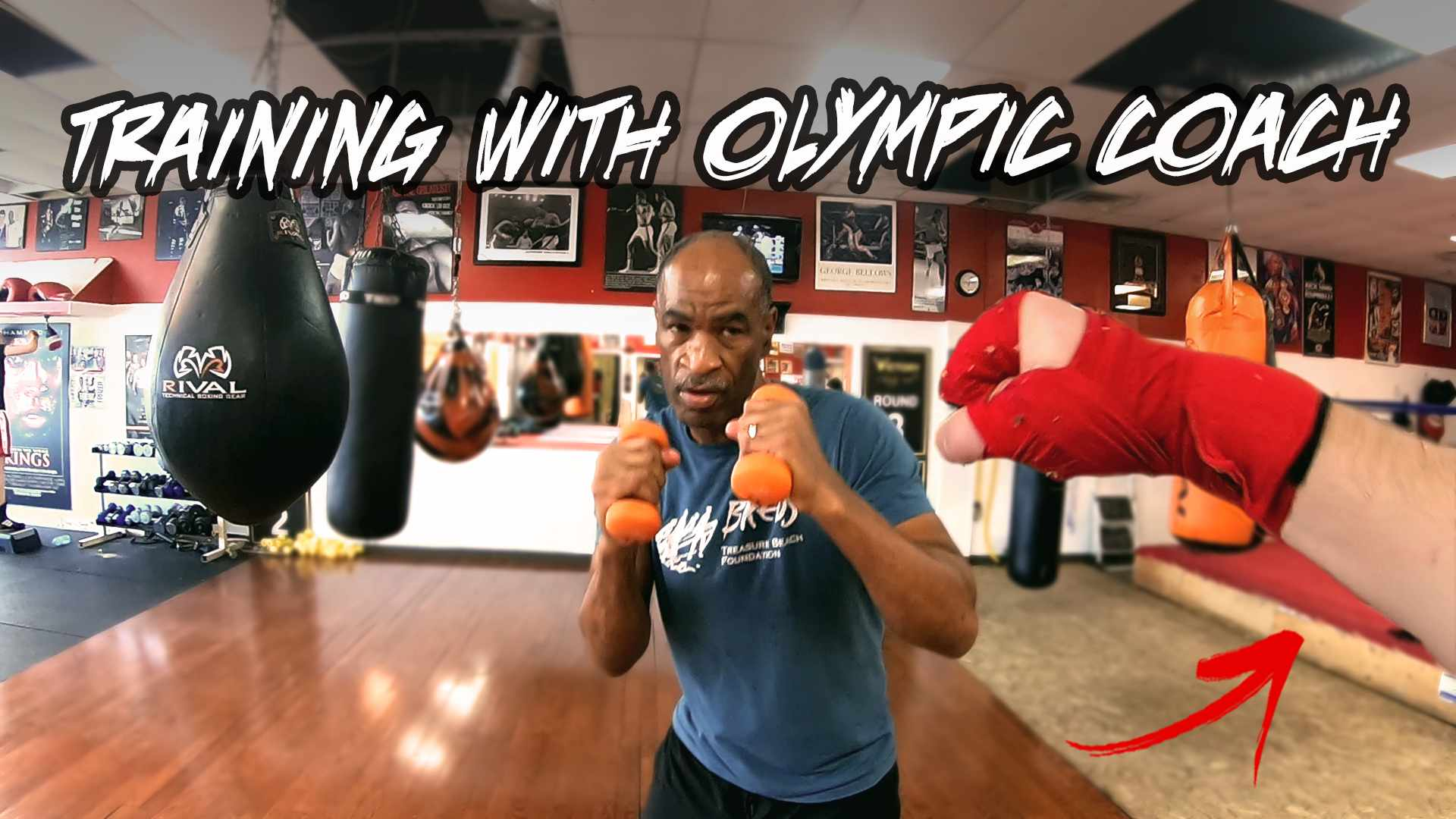 MY BOXING TRAINING WORKOUT... With an Olympic Boxer & Olympics Coach (Dewith Boxing & Fits the Whip)