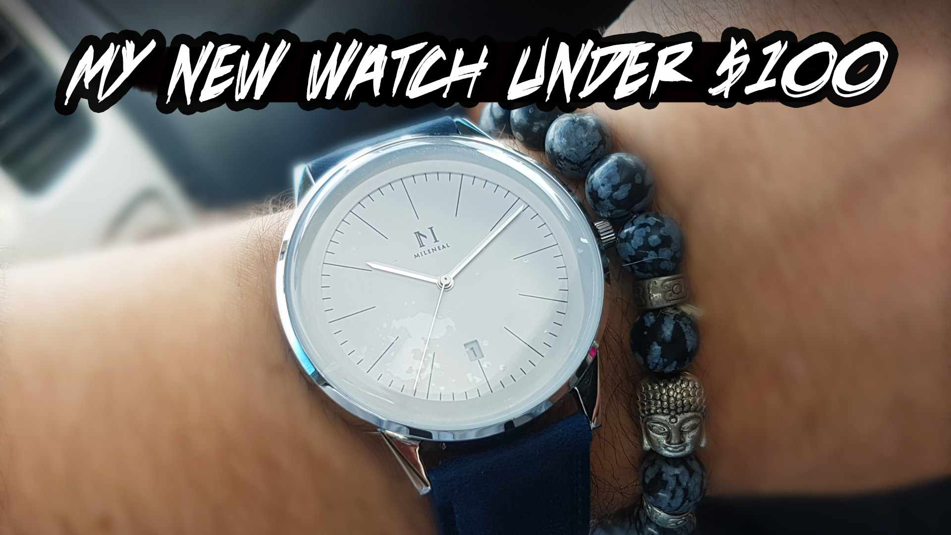MY NEW WATCH Under $100: MILENEAL Silver White w Vintage Blue Band - CL30032