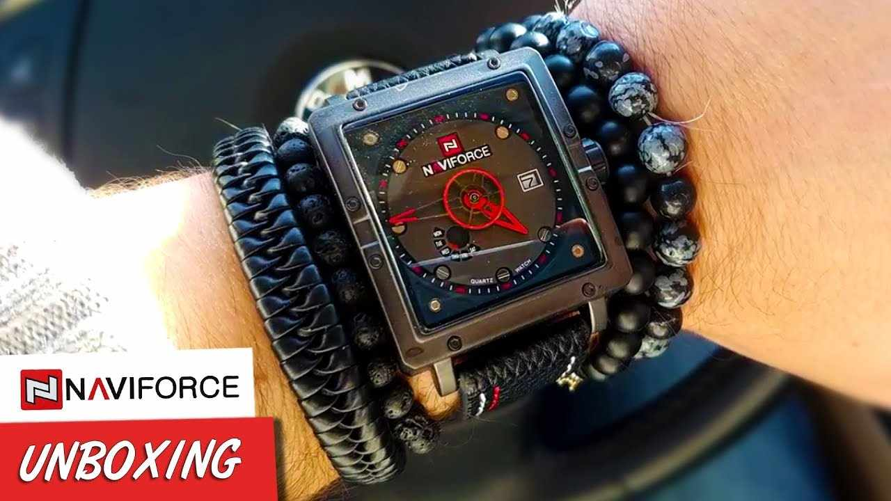 Naviforce NF9065M Square Watch. Ultra Modern Watch Unboxing Review