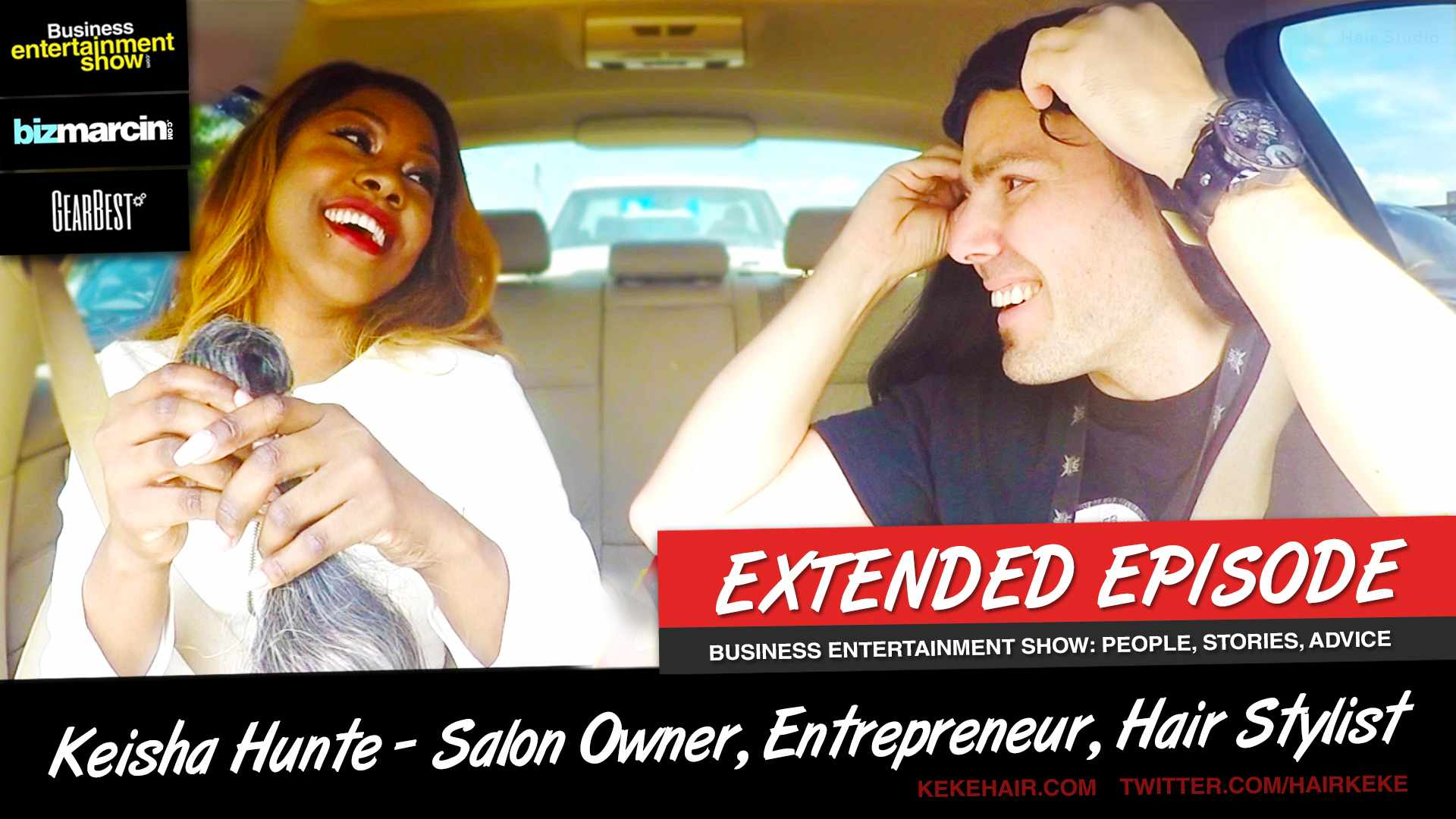 SHE GAVE ME ME A WIG! (Keisha Hunte - KekeHair.com Owner & Hair Stylist on The UBER Experiment)