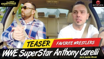 FAVORITE WRESTLERS - WWE Superstar Wrestler Anthony Carelli (Santino Marella) on The Uber Experiment