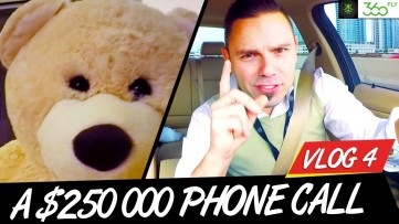 $250 000 PHONE CALL WITH AN ANGRY BEAR (Motivation VLOG 4 - Behind The Uber Experiment)