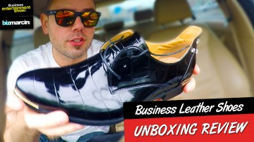 AWESOME $15 LEATHER Business Shoes from WISH.com UNBOXING Review