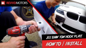 INSTALLING $15 BMW Tow Hook License Plate. How-TO Tutorial by RevvdMotors