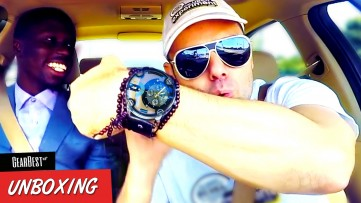 COOLEST WATCH EVER ! Luxury Watch Unboxing Gadget Review from GEARBEST on The UBER Experiment