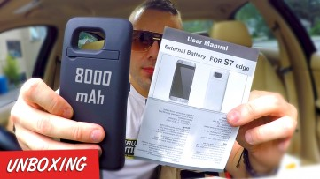 External 8000 mAh Battery for S7 Edge Unboxing & Review : Top Battery Case under $40