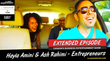 I GOT A TATTOO FROM A STRANGER - Hayla Amini & Ash Rahimi Ride The Uber Experiment Reality Show
