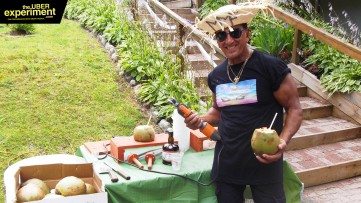 Inspiring Actor, Musician & Big Party Coconut Man pulls a knife on the Host of The Uber Experiment
