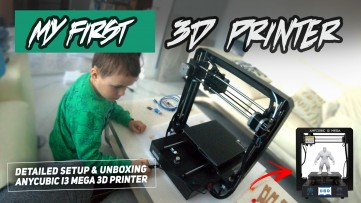 Kid Assembles ANYCUBIC I3 MEGA 3D Printer - Detailed Setup, Unboxing and Head Alignment