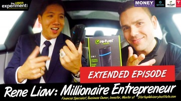 UBERING MILLIONAIRES at 200 KMH IN MY NEW TESLA - Full Episode: Rene Liaw Rides The Uber Experiment (S2E9)