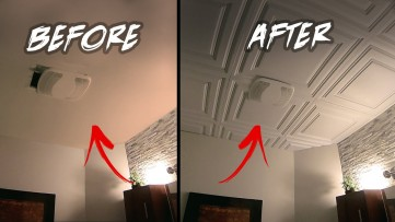 START 2 FINISH UPGRADE... How-To Install PVC Ceiling Tiles..How To Repair Peeling Paint in Washrooms