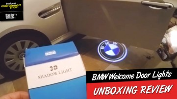 Unboxing Cool Gadgets: 2016 BMW Door Welcome Logo Lights - BMW 3D Laser Shadow Lights