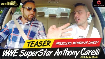 WRESTLERS MEMORIZE LINES? - WWE Superstar Wrestler Anthony Carelli (Santino Marella) Uber Experiment
