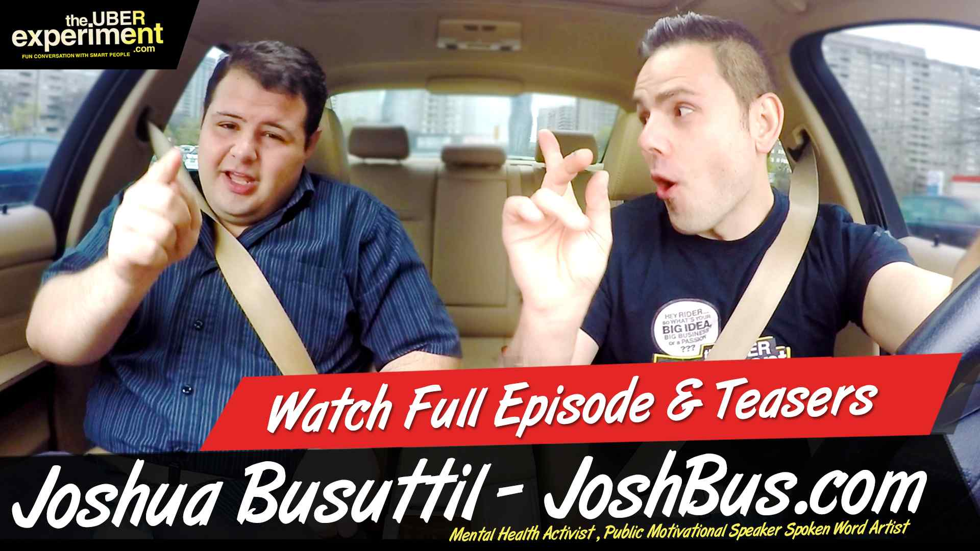Strong Man With a Strong Plan! Mental Health Activist Joshua Busuttil is the voice for the voiceless on this Episode of The Uber Experiment Business Reality Show.