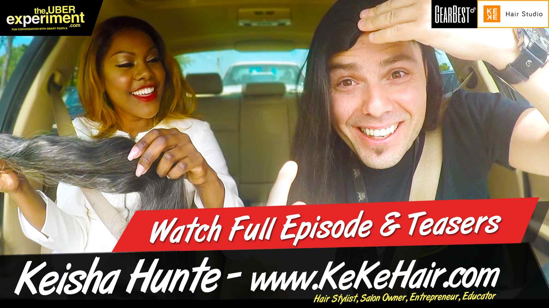 Toronto Womenpreneur & Celebrity Hairstylist Keisha Hunte of Kekehair.com gives Marcin Migdal a Hairy Education and a Hairier Makeover on The Uber Experiment
