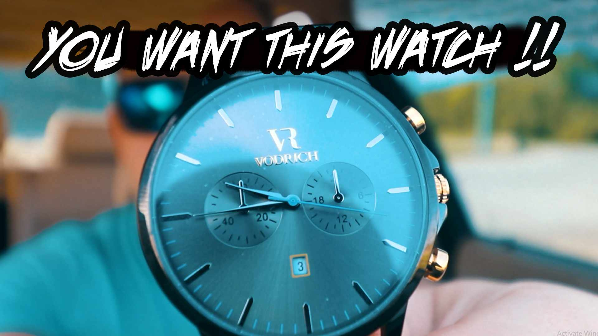 WHY U NEED MY VODRICH- VR Black Chrono Gunmetal Men Luxury Watch under $100