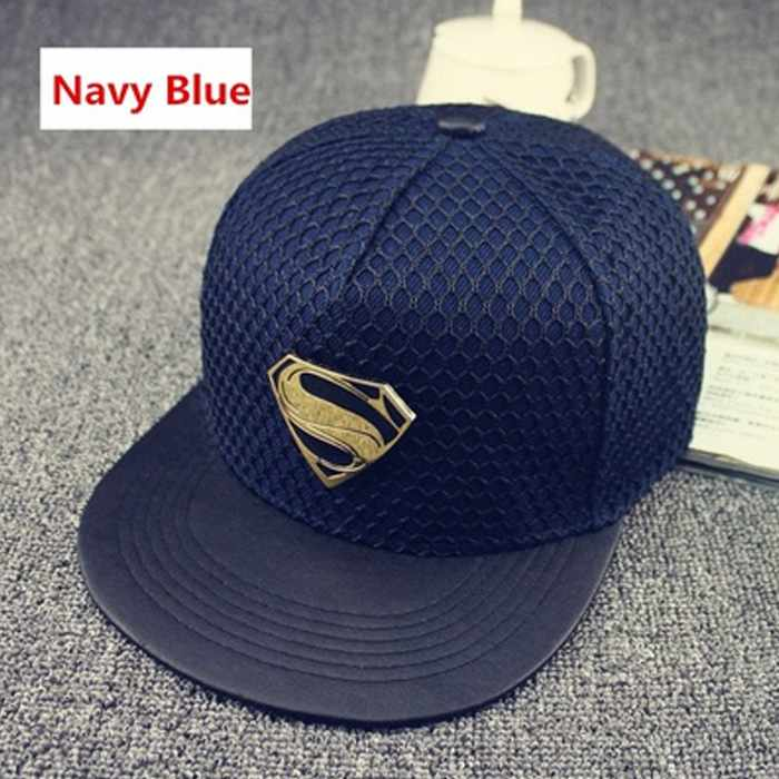 28c7d8897 Superman Hip-Hop Unisex Adustable Fit Baseball Cap - NAVY BLUE