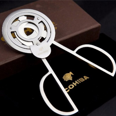 COHIBA Stainless Steel 3 blades Cigar Scissors Cutter - SILVER