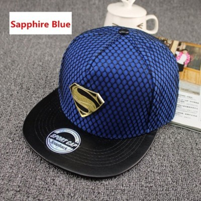 Superman Hip-Hop Unisex Adustable Fit Baseball Cap - SAPHIRE BLUE