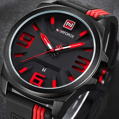 NAVIFORCE Mens NF9098 BBY - 3D Design Sports Quartz Analog Watch