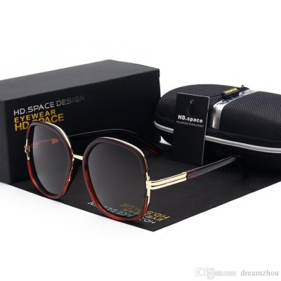 Women's Designer Ms Polarizing Sun Glasses - MAROON & BLACK