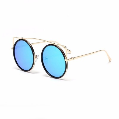 Women's Designer Oversized Cat Eye Sun Glasses - BLUE