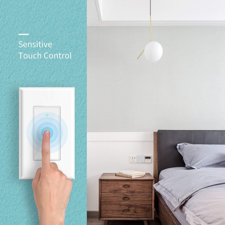 Meross Smart Wi-Fi Wireless Wall Light Switch for Alexa