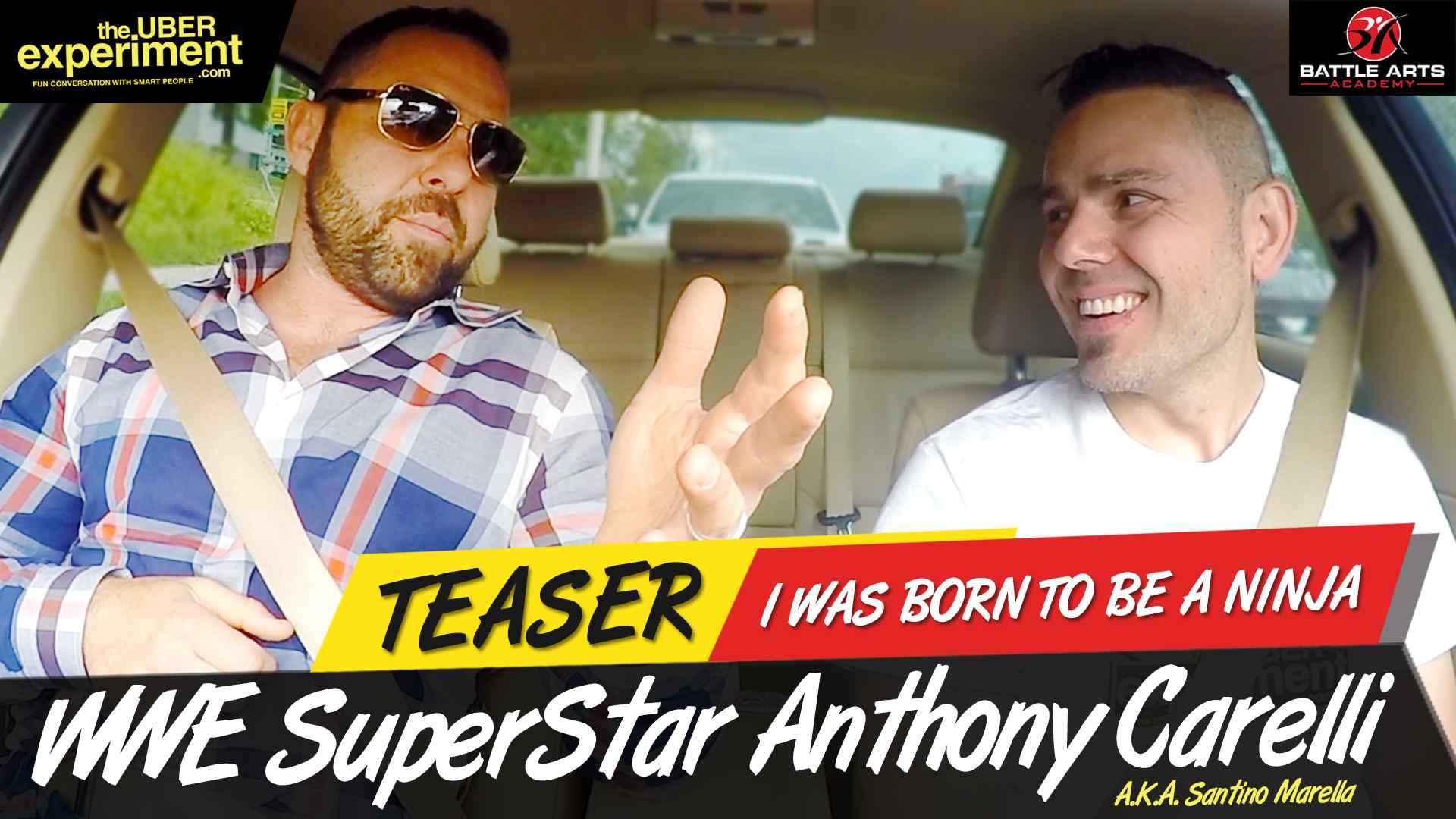 BORN TO BE A NINJA - WWE Superstar Wrestler Anthony Carelli (Santino Marella) on The Uber Experiment