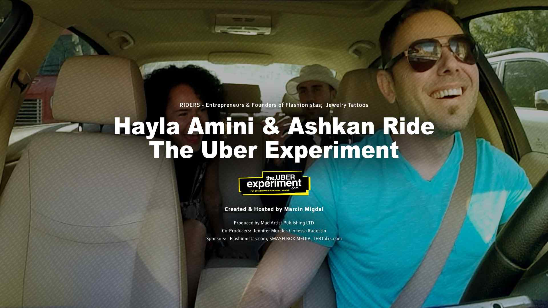 Founders of Flashionistas: Hayla Amini & Ash ride The UBER Experiment Reality Show