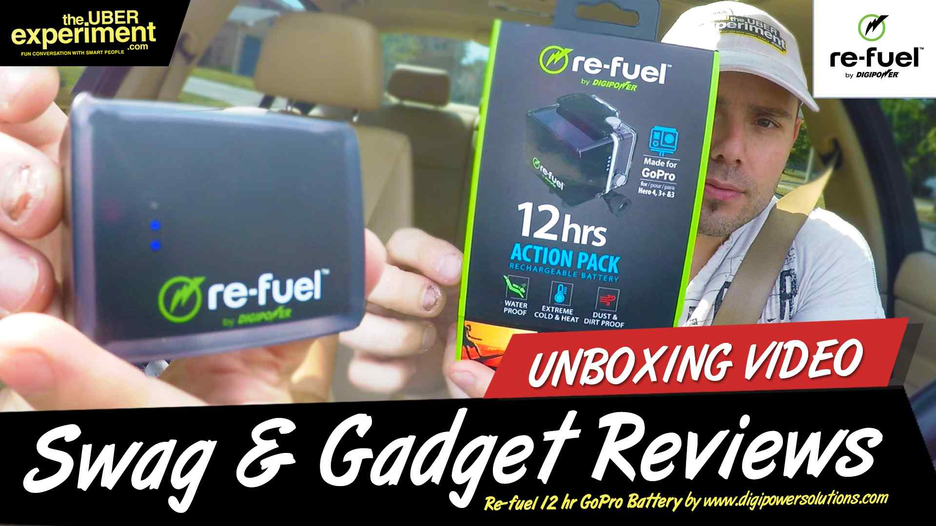 GoPRO 3, 3+, GoPro 4 Re-FUEL 12 Hr Extended Action Pack Battery Unboxing & Gadget Review