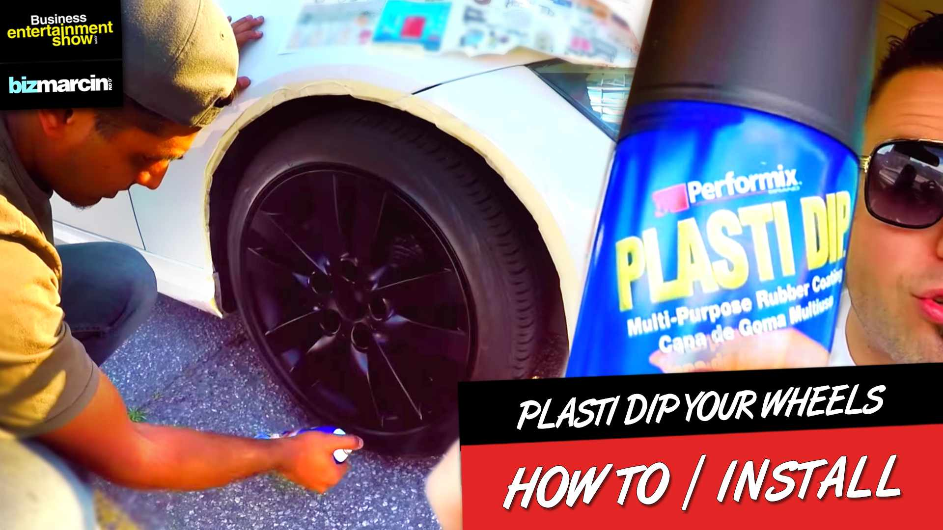 HOW TO PLASTI DIP YOUR WHEELS Without Taking them Off - Complete Guide Start to Finish