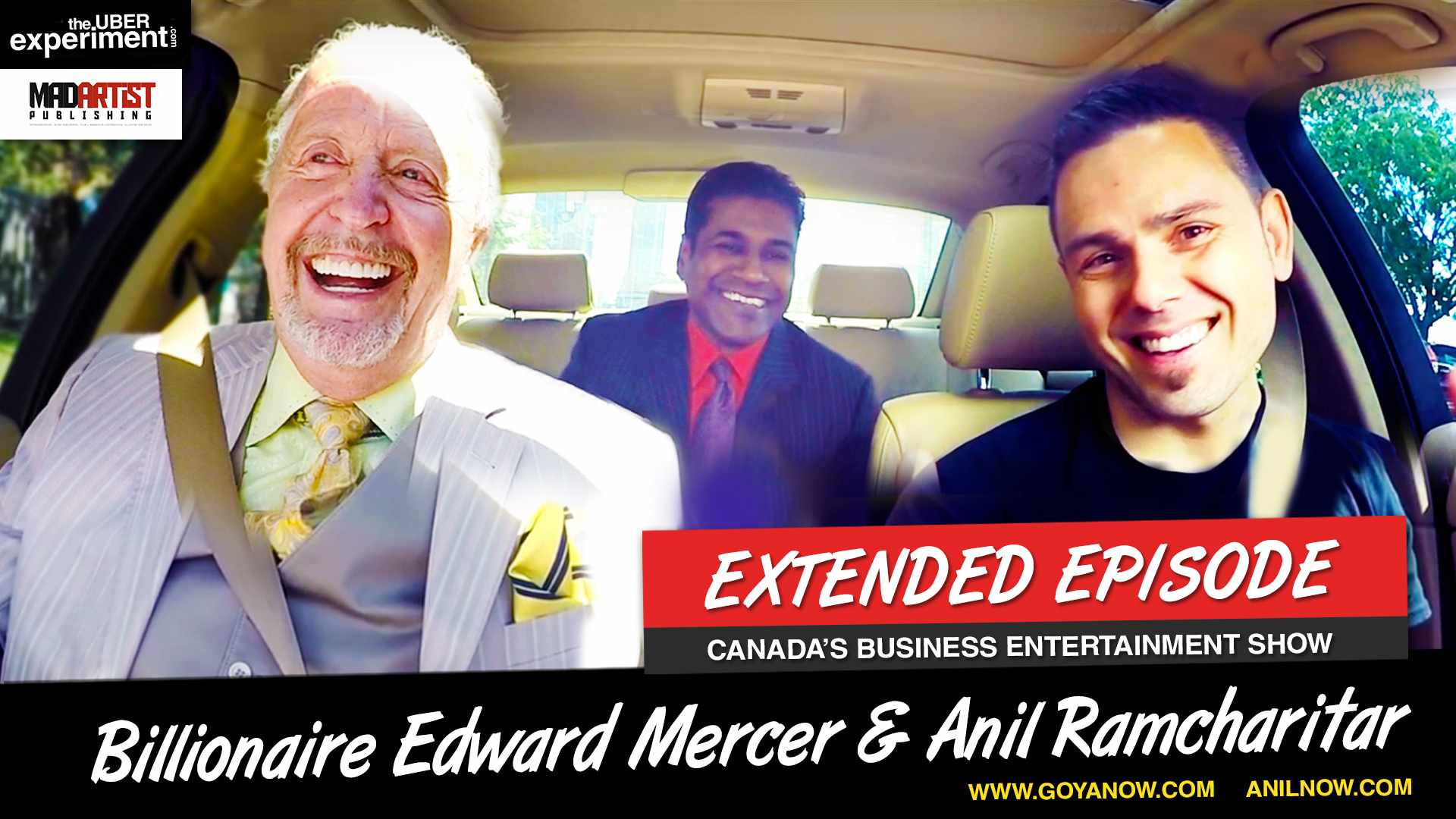 DO U HAVE WHAT IT TAKES TO BE A MILLIONAIRE? Ed Mercer & Anil Ramcharitar ride The UBER Experiment