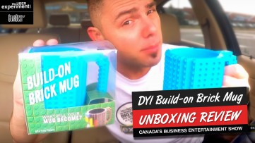 Build-On Brick Mug LEGO Building Blocks Coffee Cup 12oz UNBOXING REVIEW from GEARBEST