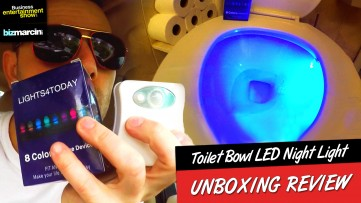 Toilet Bowl LED Night Light - UNBOXING Review  ( LIGHTS4TODAY with Rene Liaw Trailer)