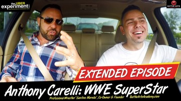WWE WRESTLER MAY BE A NINJA (Anthony Carelli & Superstar Santino Marella on The UBER Experiment)